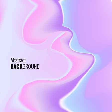 Abstract liquid neon background. Flyer template Иллюстрация