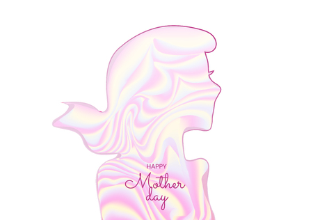 International woman day and mother day greeting card with abstract silhouette Иллюстрация