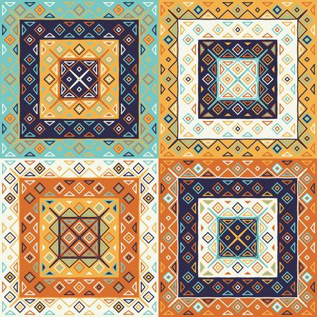 Traditional motif seamless pattern. Rhombus and triangles elements Фото со стока - 115060882