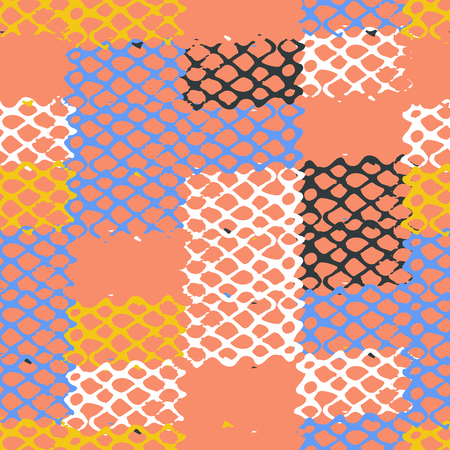 Colorful patchwork lattice seamless patten Фото со стока - 115060887