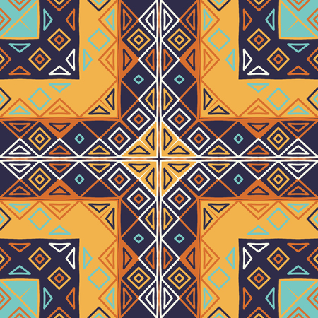Traditional motif seamless pattern. Rhombus and triangles elements Фото со стока - 115060890