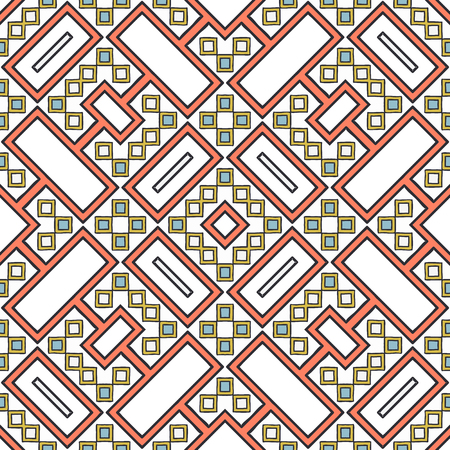Traditional motif design. Geometrical seamless pattern