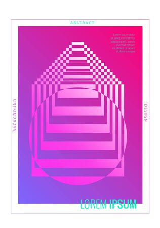 Minimal gradient cover design. Abstract geometric poster. Vertical A4 poster template