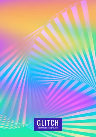 Minimal gradient cover design. Abstract geometric poster with rainbow gradient effect. Vertical A4 poster