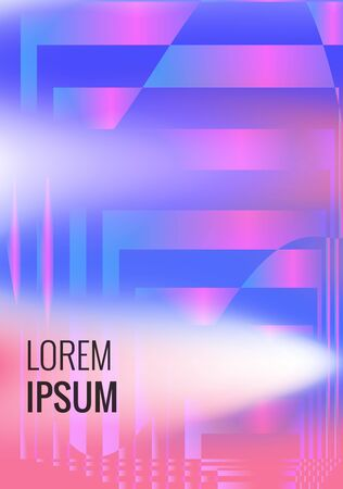 Minimal gradient cover design. Abstract geometric poster with gradient effect
