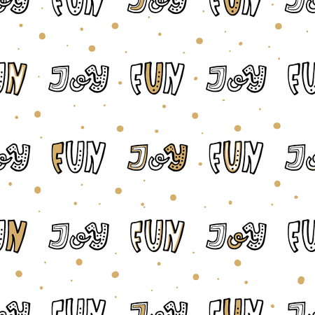 Ho ho ho lettering hand written compositions. Simple seamless pattern for wrapping paper Фото со стока - 127395610