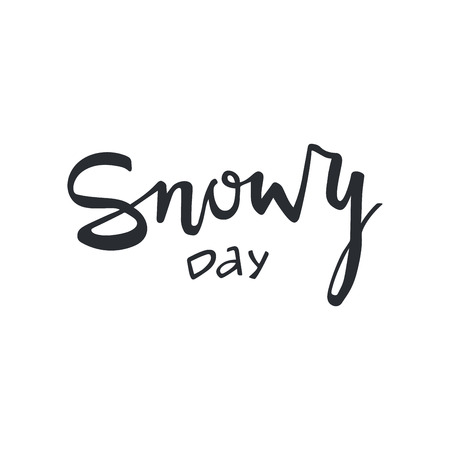 Snowy Day modern lettering. Can be used for print, greeting cards, t-shirts and photo overlays. Фото со стока - 127395612