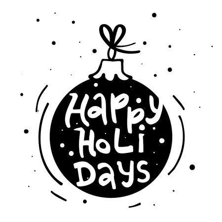 Happy Holidays modern lettering. Can be used for print, greeting cards, t-shirts and photo overlays. Фото со стока - 127395615
