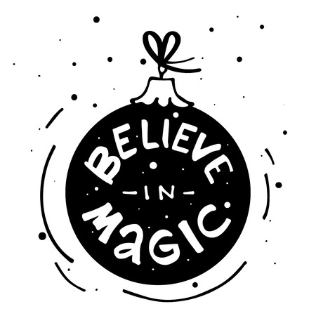 Believe in Magic modern lettering. Can be used for print, greeting cards, t-shirts and photo overlays. Фото со стока - 127395616