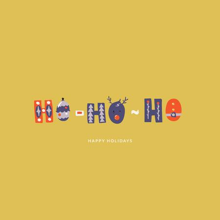 ho-ho-ho illustration. Can be used for print, greeting cards, t-shirts Фото со стока - 127395619