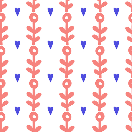 Simple seamless pattern with unicorn made in traditional scandinavian style