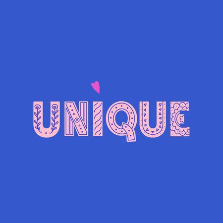 Einzigartiger Schriftzug im modernen und Doodle-Stil. Kann für Druck, Poser oder Karte verwendet werden Vektorgrafik