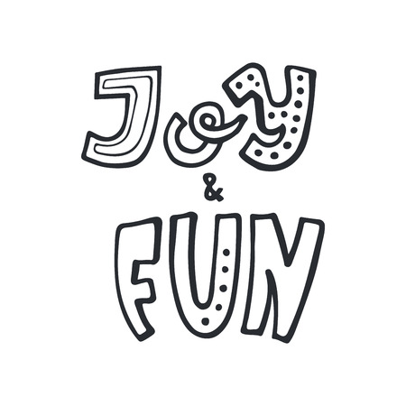 Joy & Fun modern lettering. Ho-ho-ho modern lettering. Can be used for print, greeting cards, t-shirts and photo overlays.