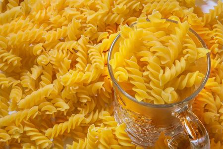 fusilli: Fusilli pasta background and texture