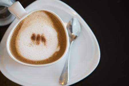 cofee cup: cappuccino cofee cup closeup