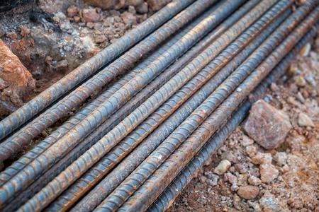 철근 콘크리트 용 철근 스톡 콘텐츠