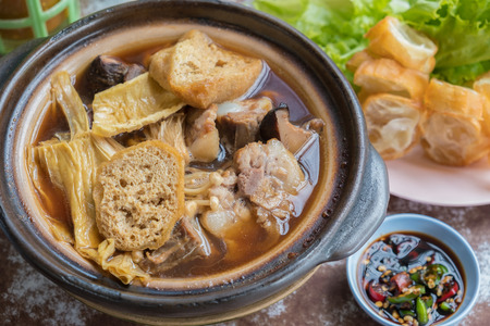 Chinese pork chopped Is a famous food And also useful. Nourishes the body well