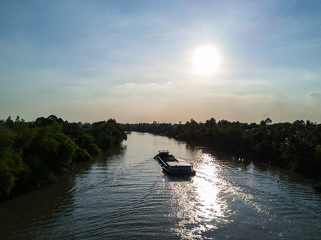 Vietnamese have a lot of river among them, so the easiest to transport is the ship