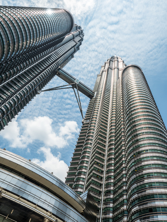 The unique aspect to see the greatest and tallest twin tower asia, Petronas Twin Towers, Kuala Lumpur, Malaysia.