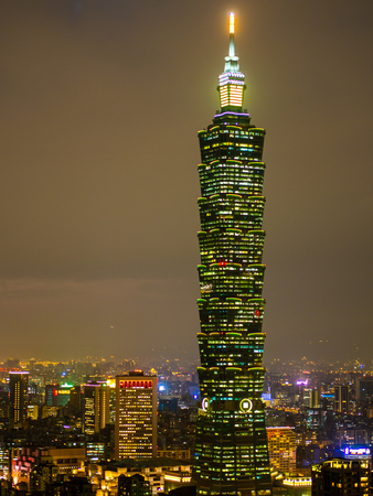 The best landmark to watch the sunset with view of the highest skyscraper in Taiwan is the Xiangshan hiking trail, the hill behind Taipei 101 building. Taipei 101 is the best landmark in Taipei.