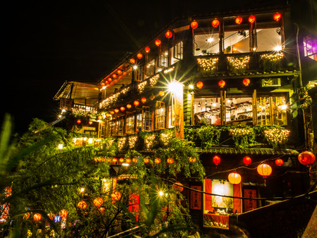 Jiufen the old red lantern street, the famous landmark for tourists enjoy watching the red decoration of the old town. This town is really beautiful during night, should be visited in Taiwan. Editorial