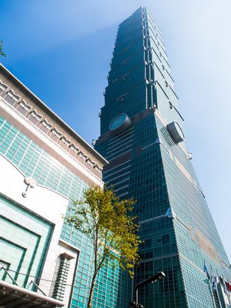 台北101、アジアで最高の超高層ビルの一つ。タワーのユニークなデザインは、この技術を考えるためにこのような巧妙な土木技師の地震からの落下