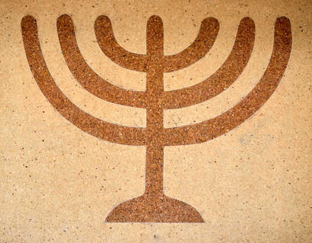 Mosaic picture of the menorah  - lighting a symbol of Israel Stock Photo - 16269311