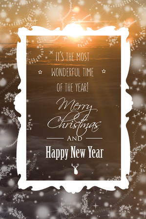 marry christmas: Marry Christmas and Happy New Year Stock Photo