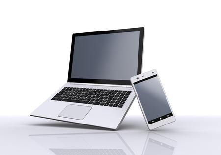 ノートブック PC とスマート フォン