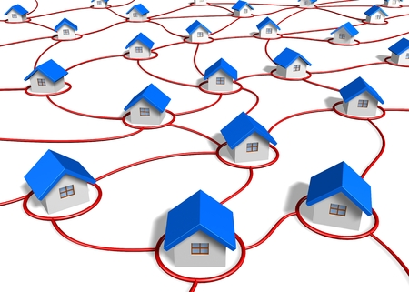 electric grid: network house concept Stock Photo