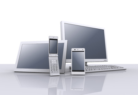 Personal computer,tablet pc, smartphone and feature phone photo