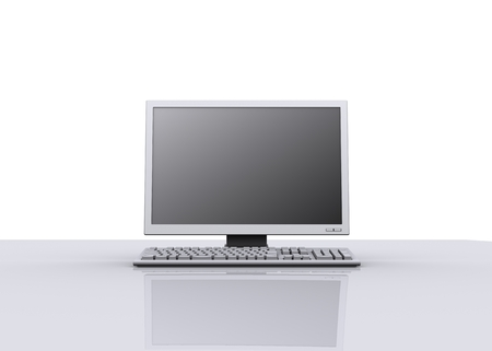 Desktop computer on office desk