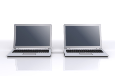 communicated: Two laptops linked