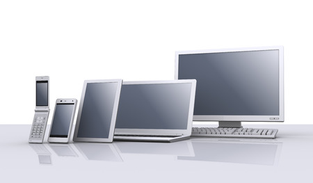デスクトップ コンピューター、ラップトップ、タブレット pc、スマート フォン、機能の携帯電話