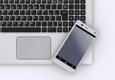 Keyboard and Smartphone