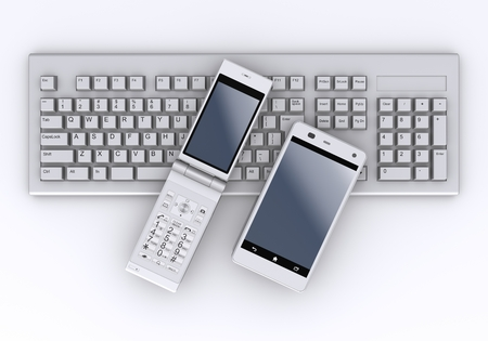 Keyboard and Smartphone,Feature phone