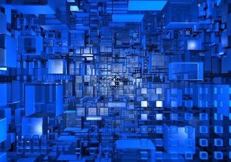 抽象的なサイバー スペース 写真素材