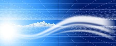 cg: Abstract cloud CG. Stock Photo