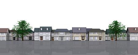 houses: houses on a street