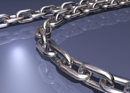 chromed: chromed chain Stock Photo