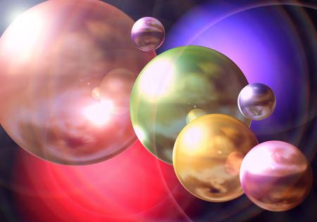 sphere: colorful sphere