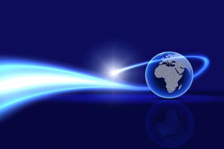 グローバルな技術の背景。ヨーロッパ、アフリカ