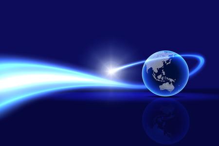 グローバルな技術の背景。オーストラリア、アジア