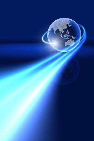 グローバルな技術の背景。アジア、オセアニア