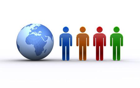 人と地球ヨーロッパ、アフリカ 写真素材