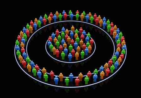 to gather: The people who gather circularly