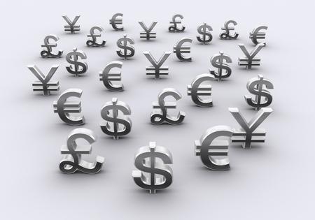 白い背景で隔離の通貨記号