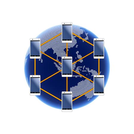 インターネットのイメージ。オーストラリア、アジア