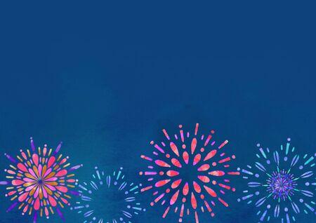 Fireworks Night Sky Summer Tradition Stockfoto