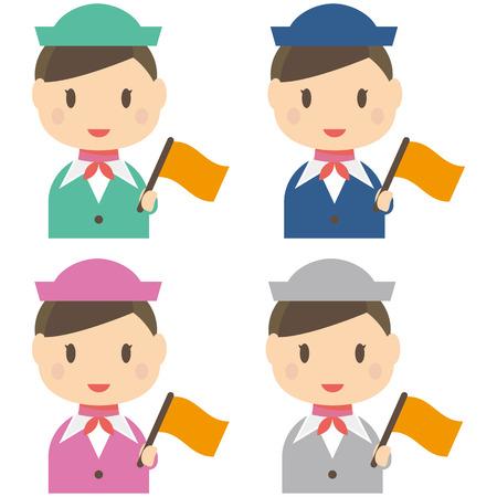 color guide: With the uniform flag color color guide women